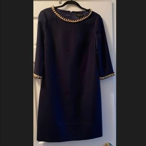 Ted Baker Dress - with gold chain trim